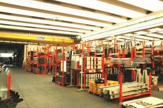 Оснащение склада строительных материалов
