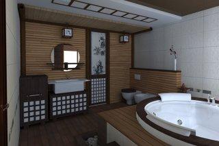 Оформляем ванную в японском стиле